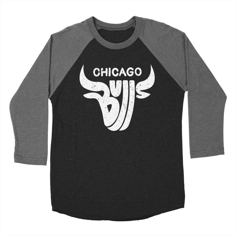 Bulls (White) Women's Baseball Triblend Longsleeve T-Shirt by 5eth's Artist Shop