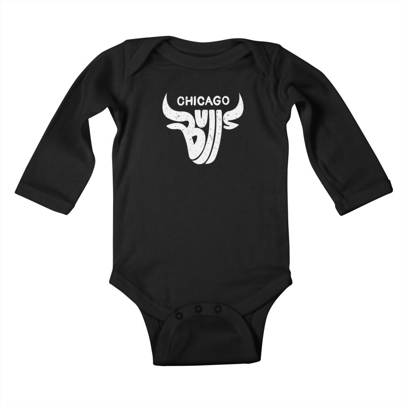 Bulls (White) Kids Baby Longsleeve Bodysuit by 5eth's Artist Shop