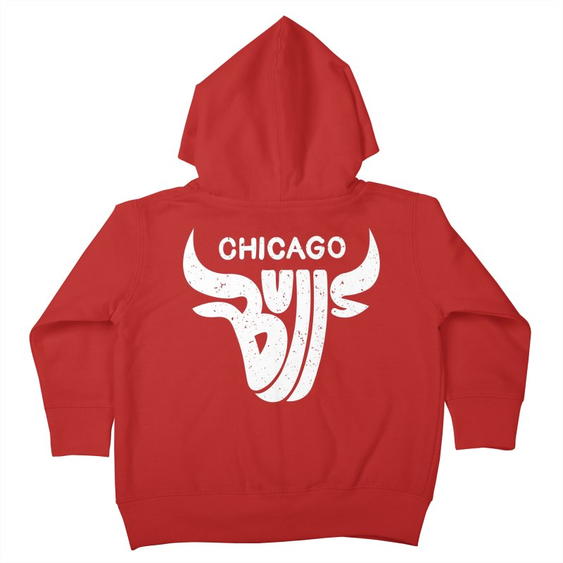 Bulls (White) Kids Toddler Zip-Up Hoody by 5eth's Artist Shop