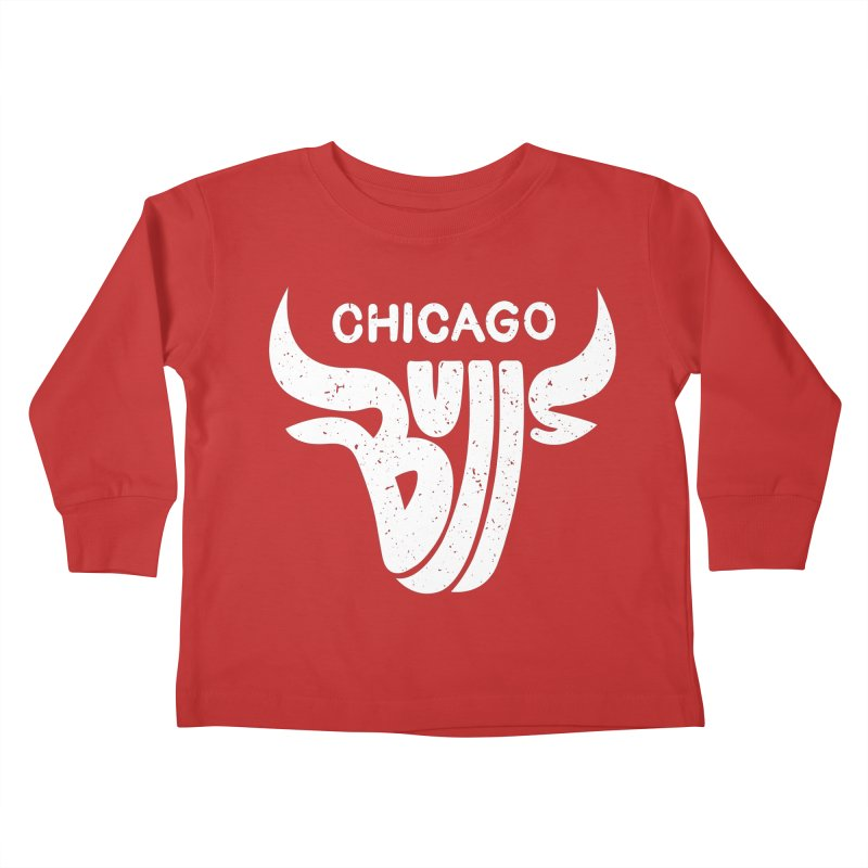 Bulls (White) Kids Toddler Longsleeve T-Shirt by 5eth's Artist Shop