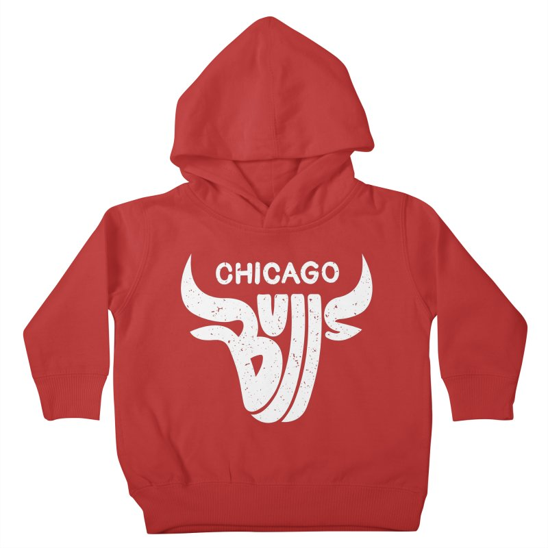 Bulls (White) Kids Toddler Pullover Hoody by 5eth's Artist Shop