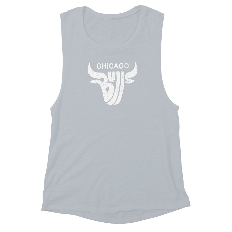 Bulls (White) Women's Muscle Tank by 5eth's Artist Shop