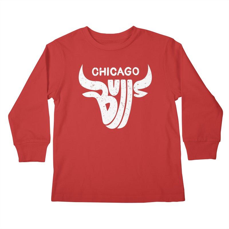 Bulls (White) Kids Longsleeve T-Shirt by 5eth's Artist Shop