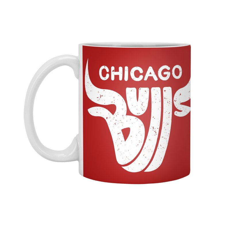 Bulls (White) Accessories Mug by 5eth's Artist Shop