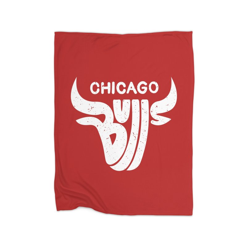 Bulls (White) Home Fleece Blanket by 5eth's Artist Shop