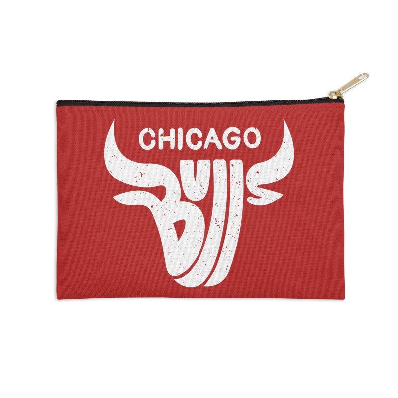Bulls (White) Accessories Zip Pouch by 5eth's Artist Shop