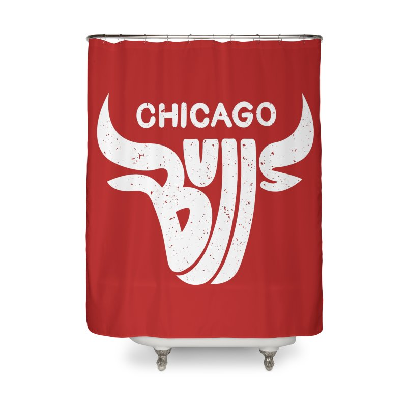 Bulls (White) Home Shower Curtain by 5eth's Artist Shop