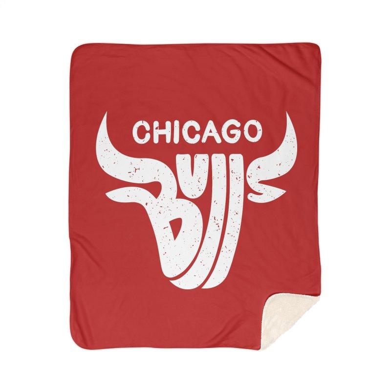 Bulls (White) Home Sherpa Blanket Blanket by 5eth's Artist Shop
