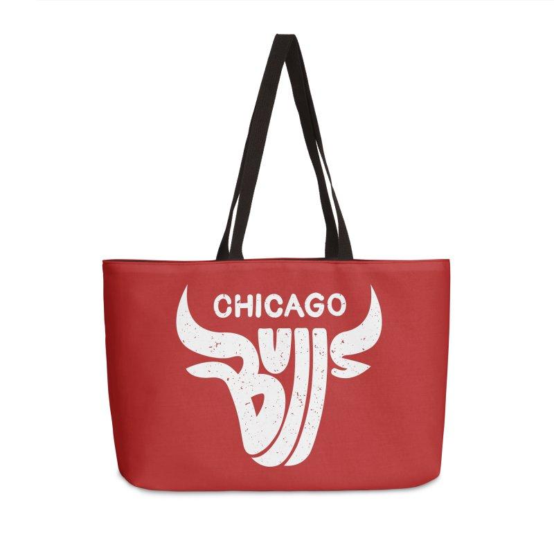 Bulls (White) Accessories Weekender Bag Bag by 5eth's Artist Shop