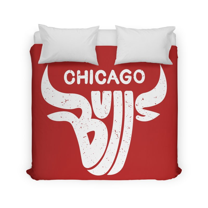 Bulls (White) Home Duvet by 5eth's Artist Shop
