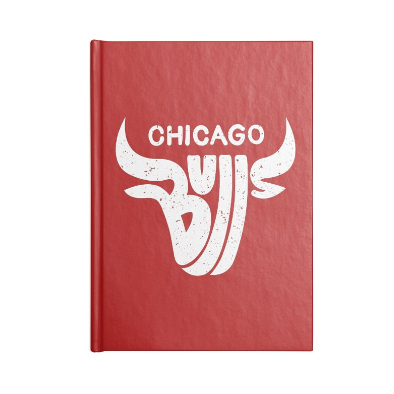 Bulls (White) Accessories Blank Journal Notebook by 5eth's Artist Shop