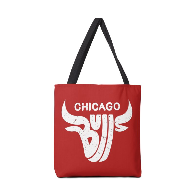 Bulls (White) Accessories Bag by 5eth's Artist Shop