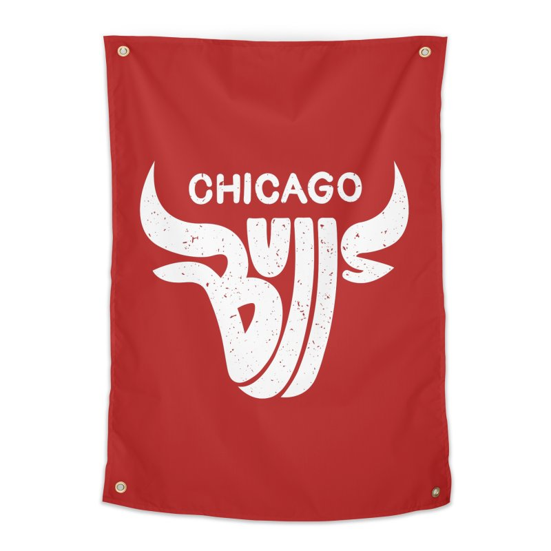 Bulls (White) Home Tapestry by 5eth's Artist Shop