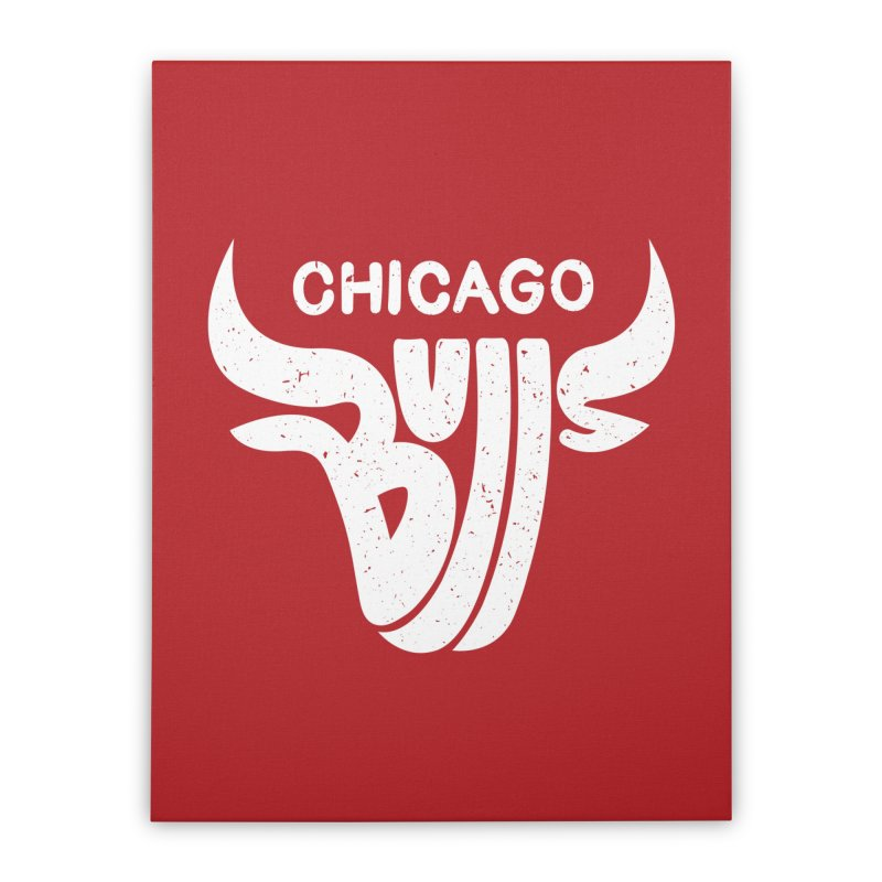 Bulls (White) Home Stretched Canvas by 5eth's Artist Shop