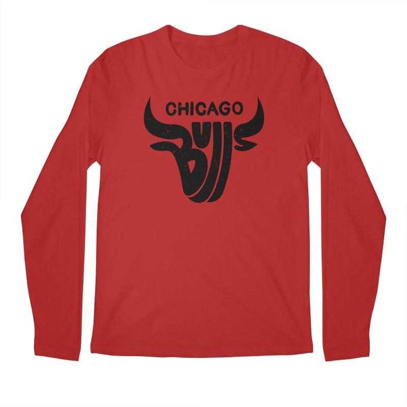 Bulls (Black) Men's Longsleeve T-Shirt by 5eth's Artist Shop