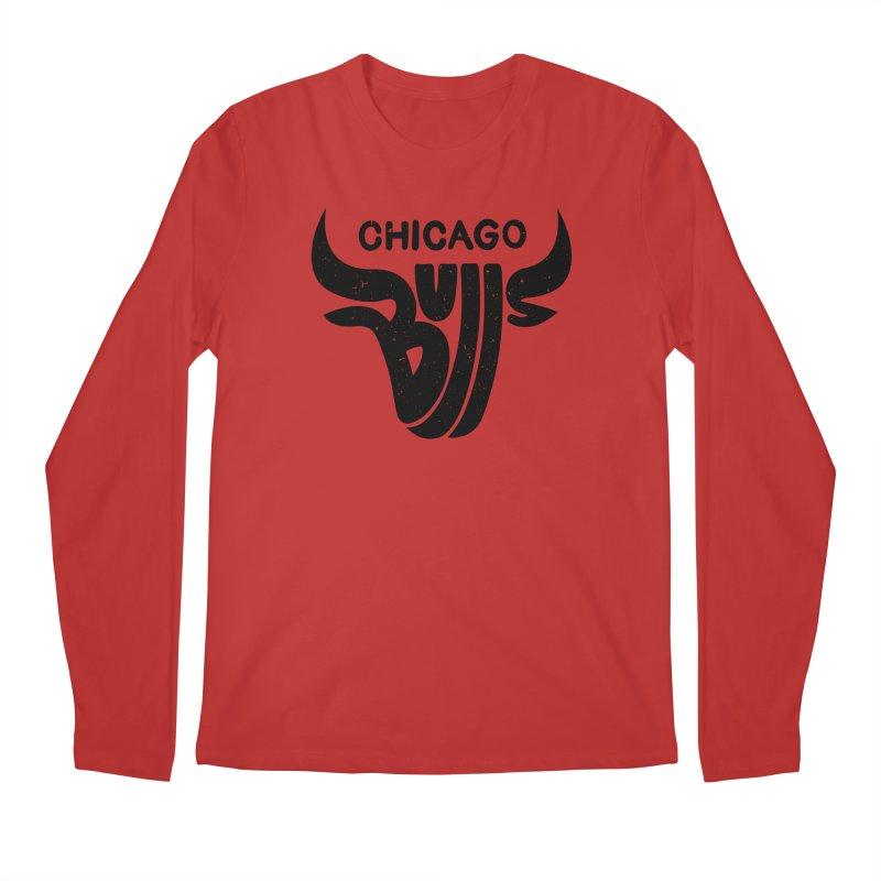 Bulls (Black) Men's Regular Longsleeve T-Shirt by 5eth's Artist Shop