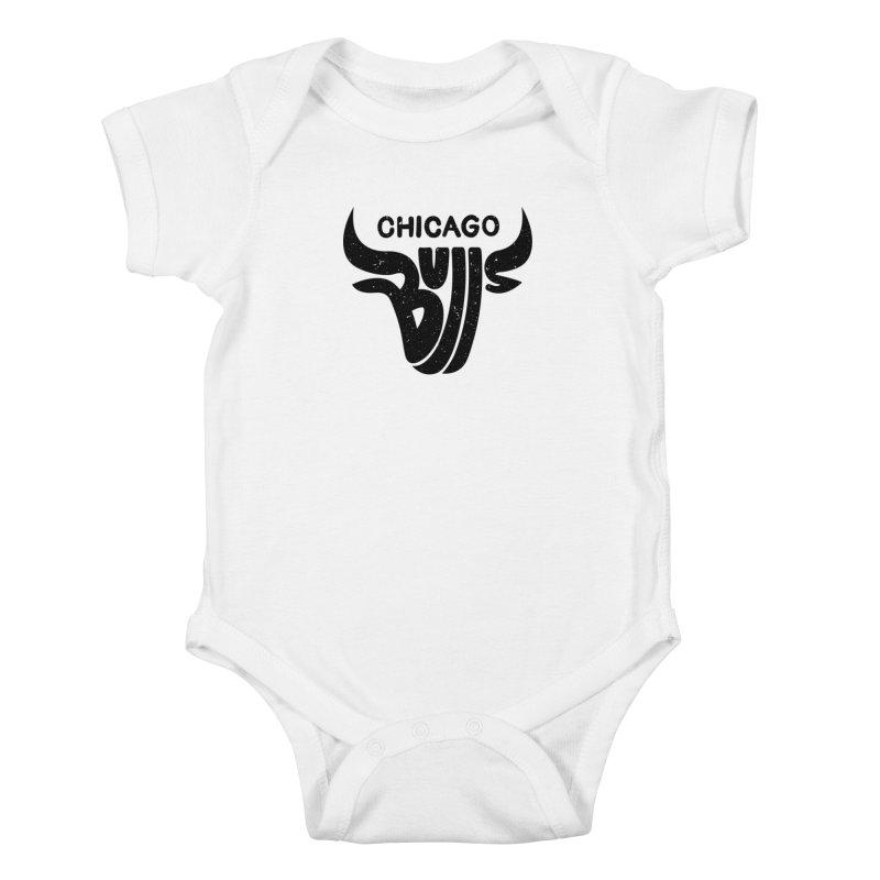 Bulls (Black) Kids Baby Bodysuit by 5eth's Artist Shop