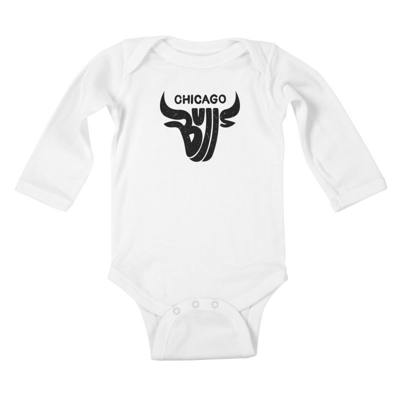 Bulls (Black) Kids Baby Longsleeve Bodysuit by 5eth's Artist Shop