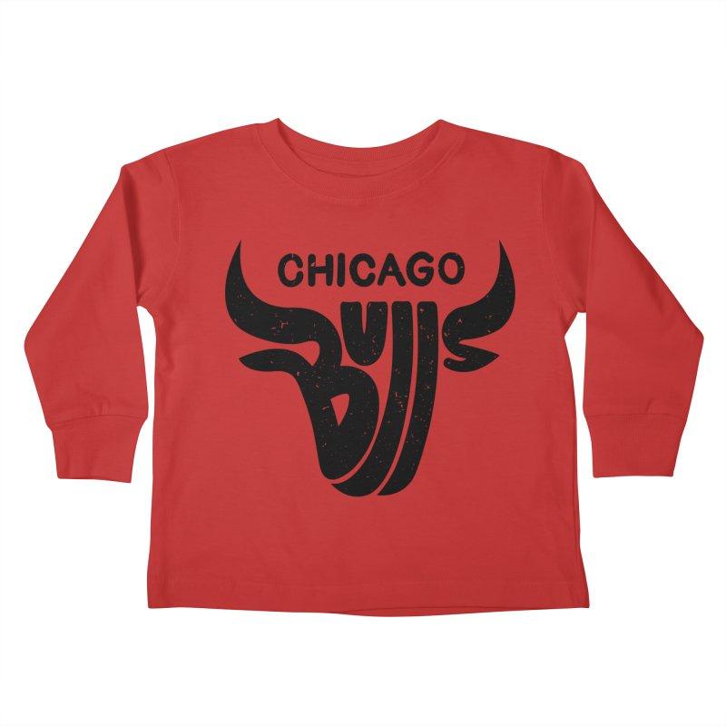 Bulls (Black) Kids Toddler Longsleeve T-Shirt by 5eth's Artist Shop