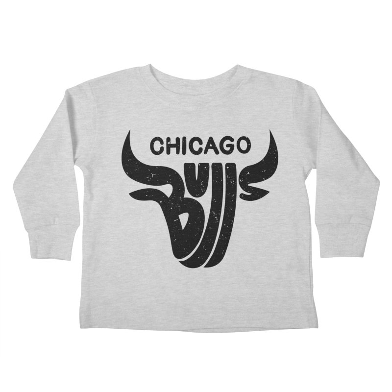 Bulls (Black) Kids Toddler Longsleeve T-Shirt by 5eth's Artist Shop
