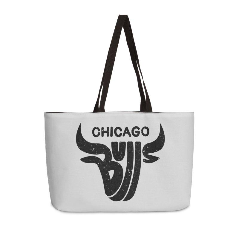 Bulls (Black) Accessories Weekender Bag Bag by 5eth's Artist Shop