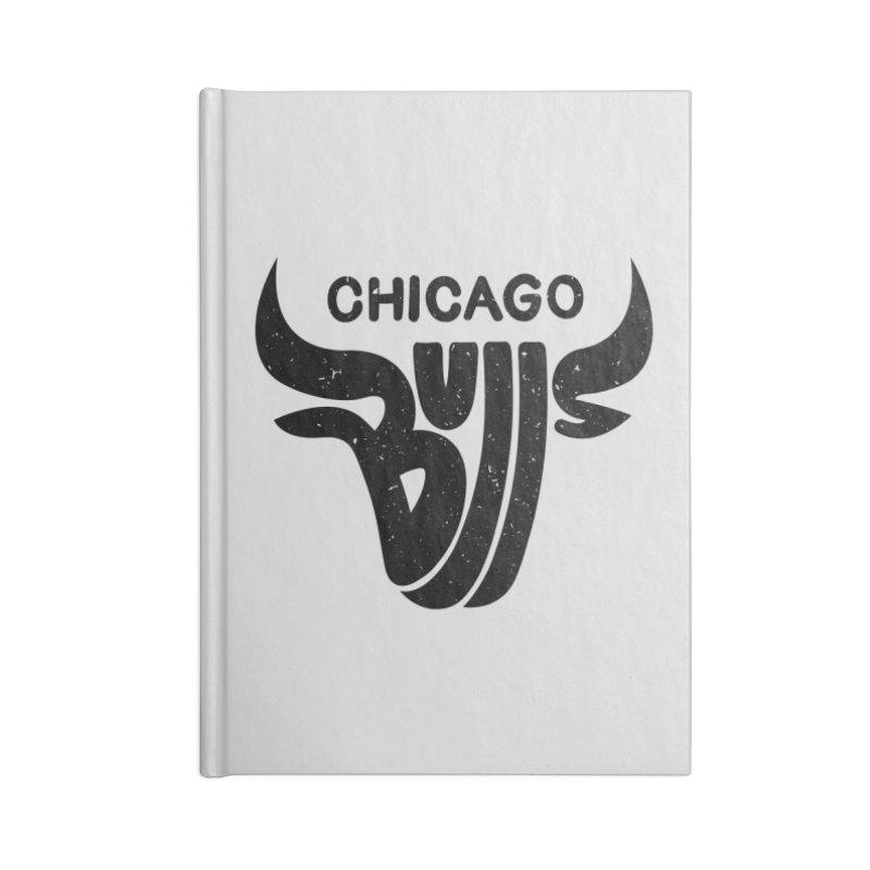 Bulls (Black) Accessories Notebook by 5eth's Artist Shop
