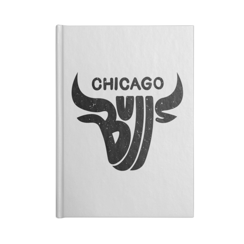 Bulls (Black) Accessories Lined Journal Notebook by 5eth's Artist Shop
