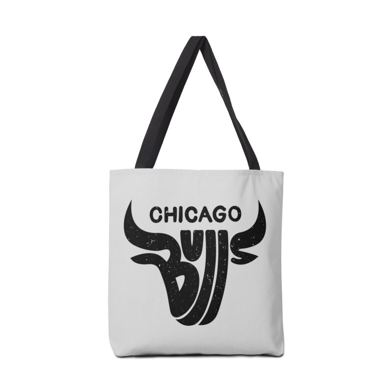 Bulls (Black) Accessories Tote Bag Bag by 5eth's Artist Shop