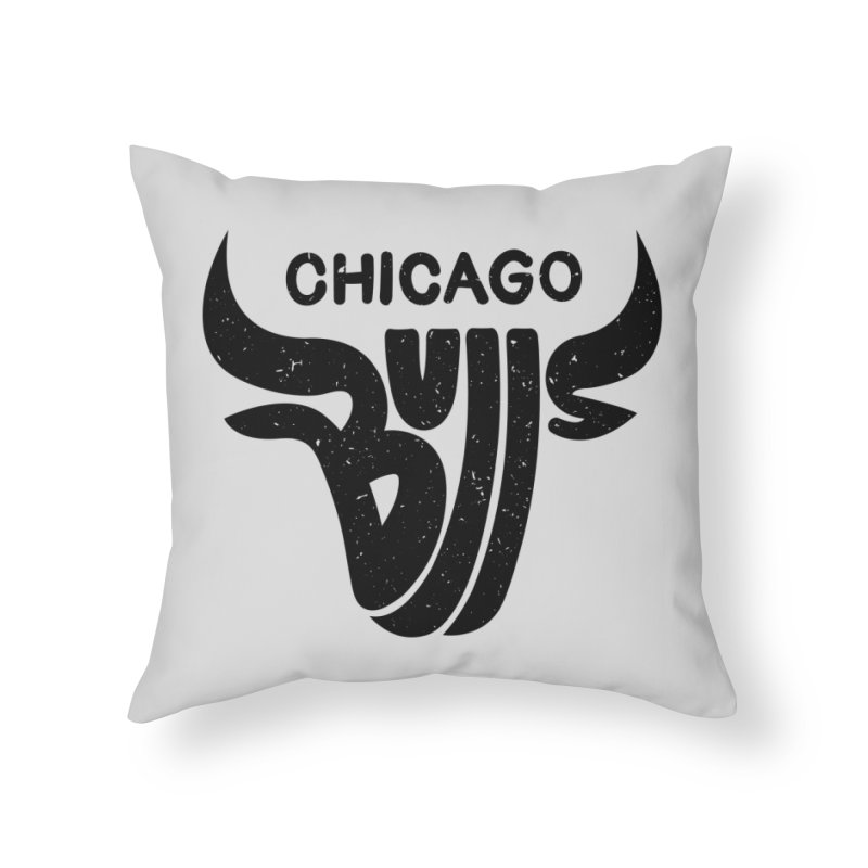 Bulls (Black) Home Throw Pillow by 5eth's Artist Shop