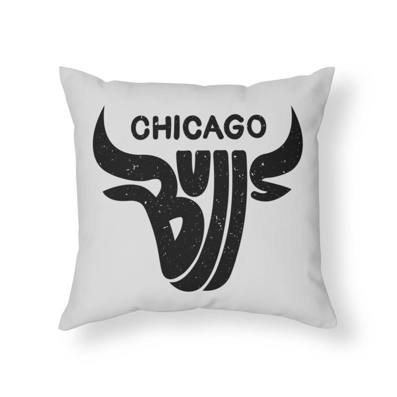 Bulls (Black) Home Throw Pillow by 5eth's Artist Shop