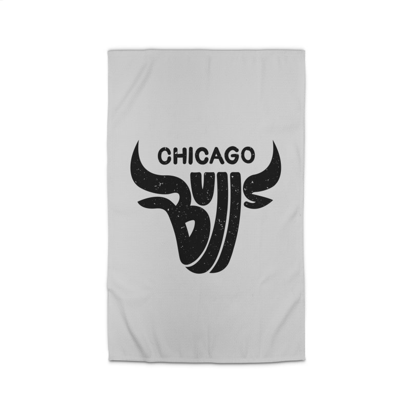 Bulls (Black) Home Rug by 5eth's Artist Shop
