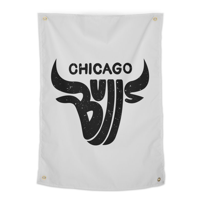 Bulls (Black) Home Tapestry by 5eth's Artist Shop