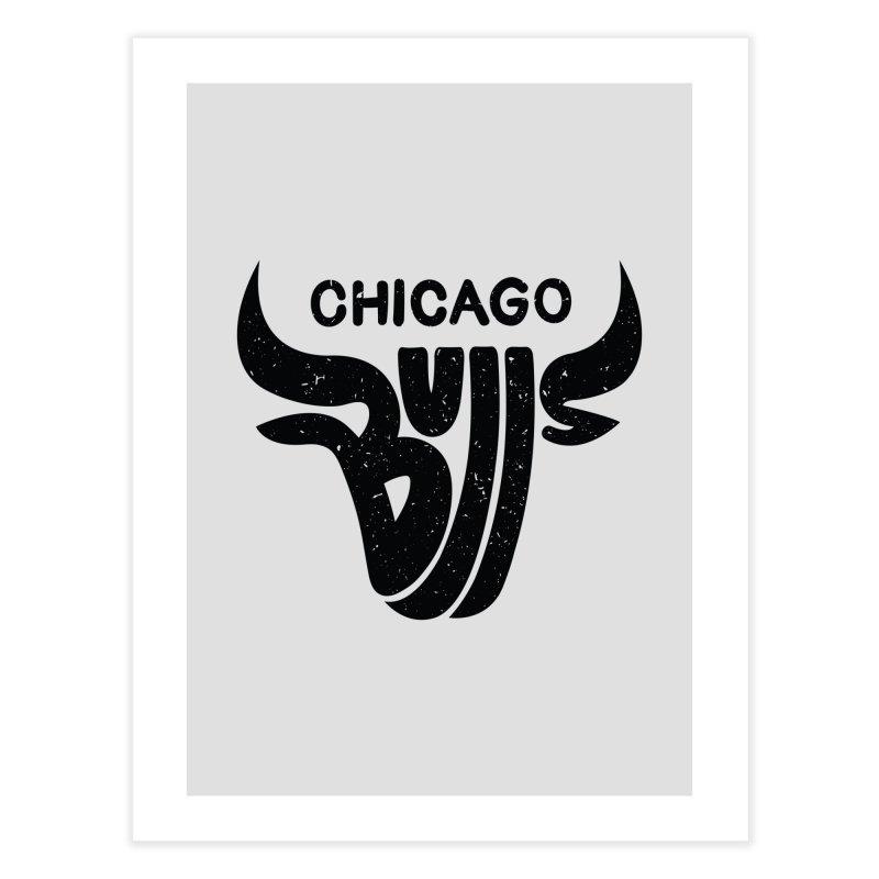 Bulls (Black) Home Fine Art Print by 5eth's Artist Shop