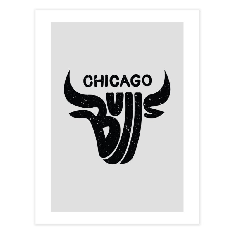 Bulls (Black) Home Fine Art Print by 5eth's Artist Shop