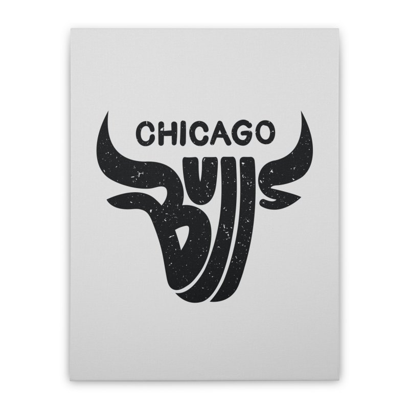 Bulls (Black) Home Stretched Canvas by 5eth's Artist Shop