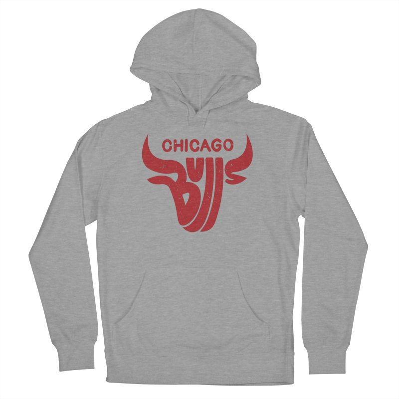 Bulls (Red) Women's French Terry Pullover Hoody by 5eth's Artist Shop