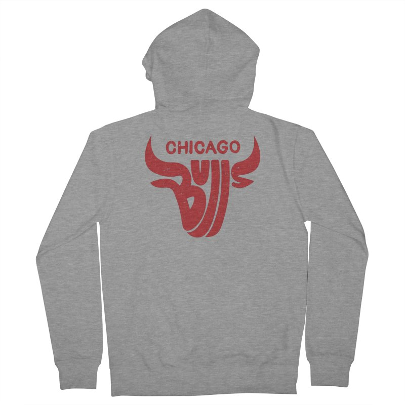 Bulls (Red) Women's Zip-Up Hoody by 5eth's Artist Shop