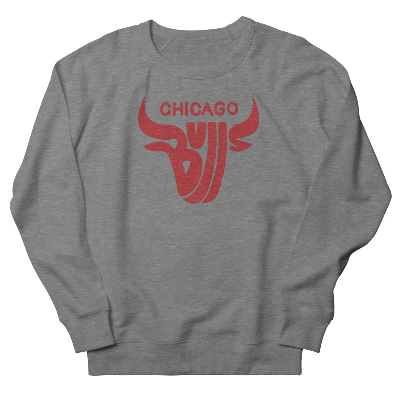 Bulls (Red) Men's French Terry Sweatshirt by 5eth's Artist Shop