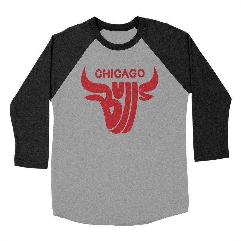 Bulls (Red) Women's Baseball Triblend T-Shirt by 5eth's Artist Shop