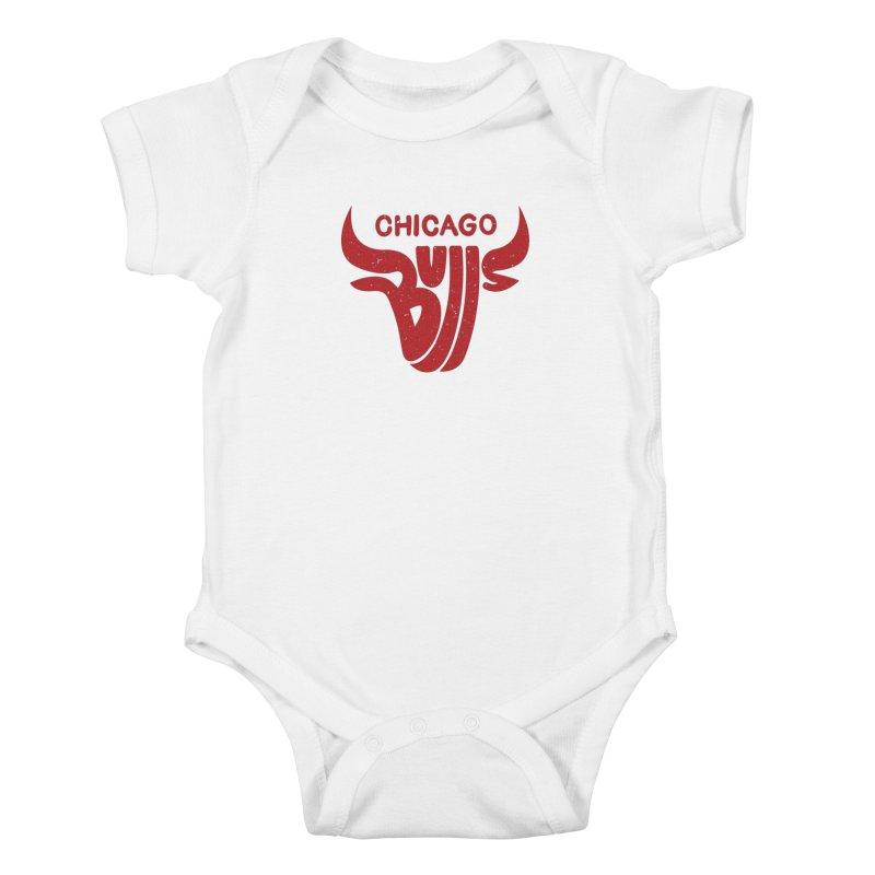 Bulls (Red) Kids Baby Bodysuit by 5eth's Artist Shop