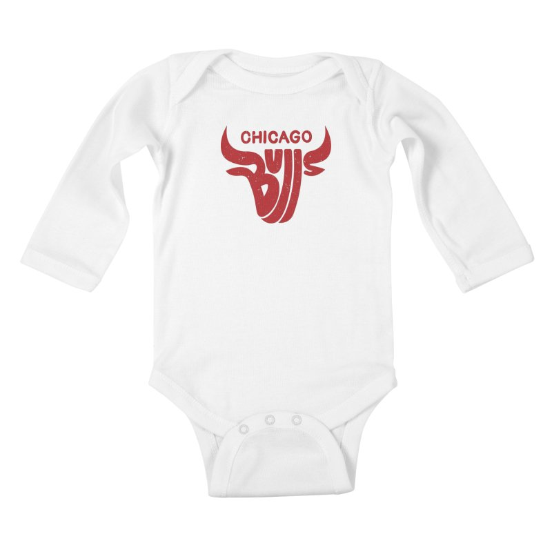 Bulls (Red) Kids Baby Longsleeve Bodysuit by 5eth's Artist Shop