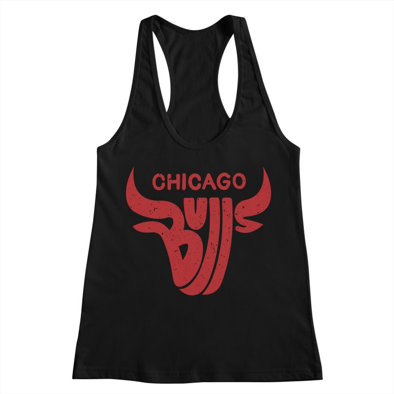 Bulls (Red) Women's Racerback Tank by 5eth's Artist Shop