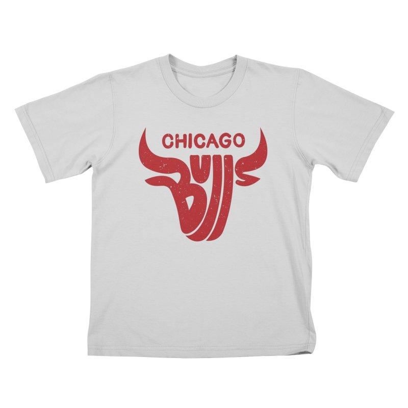 Bulls (Red) Kids T-Shirt by 5eth's Artist Shop