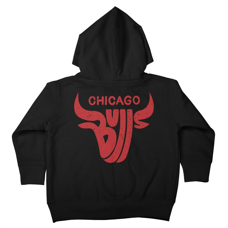Bulls (Red) Kids Toddler Zip-Up Hoody by 5eth's Artist Shop