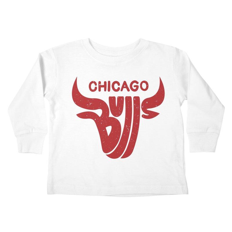 Bulls (Red) Kids Toddler Longsleeve T-Shirt by 5eth's Artist Shop