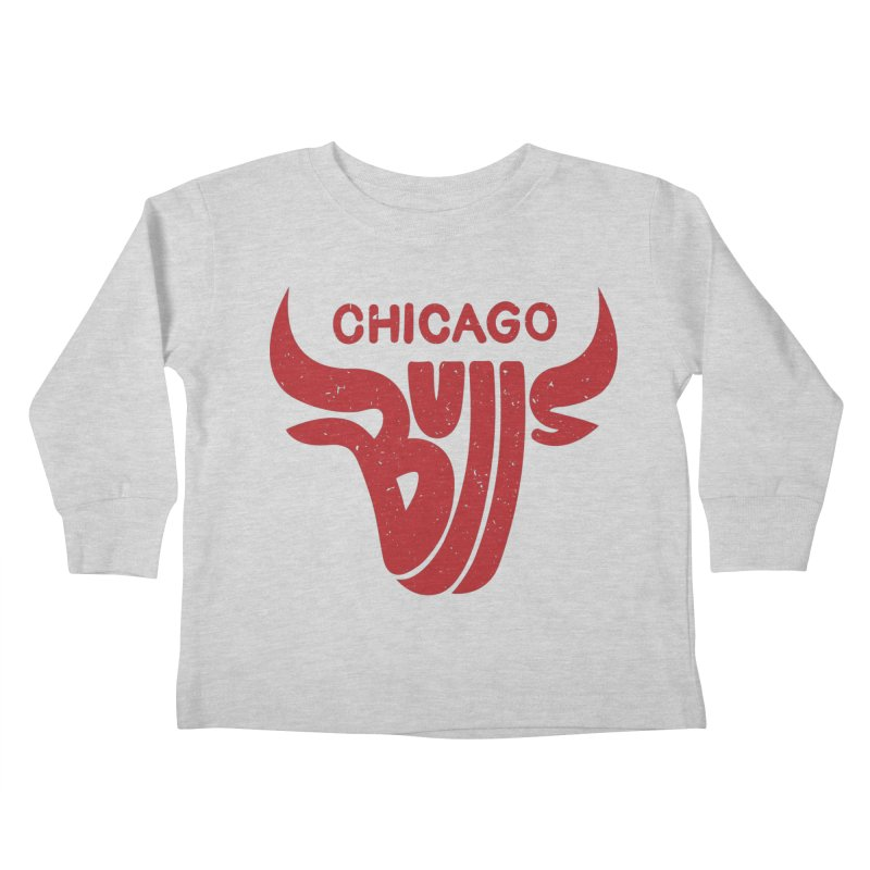 Bulls (Red) Kids Toddler Longsleeve T-Shirt by 5eth's Artist Shop