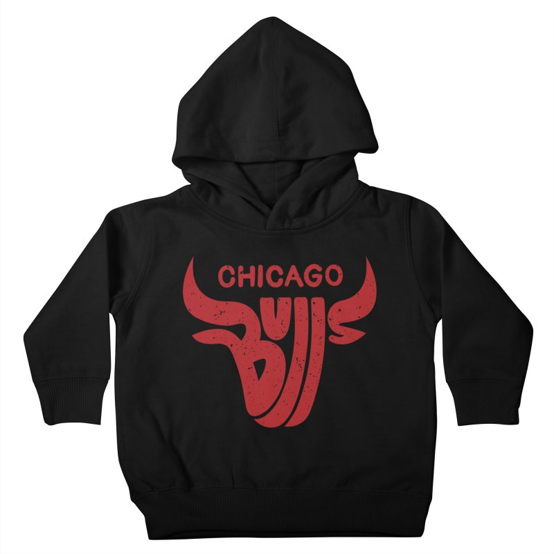Bulls (Red) Kids Toddler Pullover Hoody by 5eth's Artist Shop