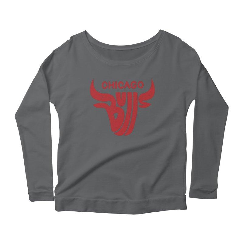Bulls (Red) Women's Scoop Neck Longsleeve T-Shirt by 5eth's Artist Shop
