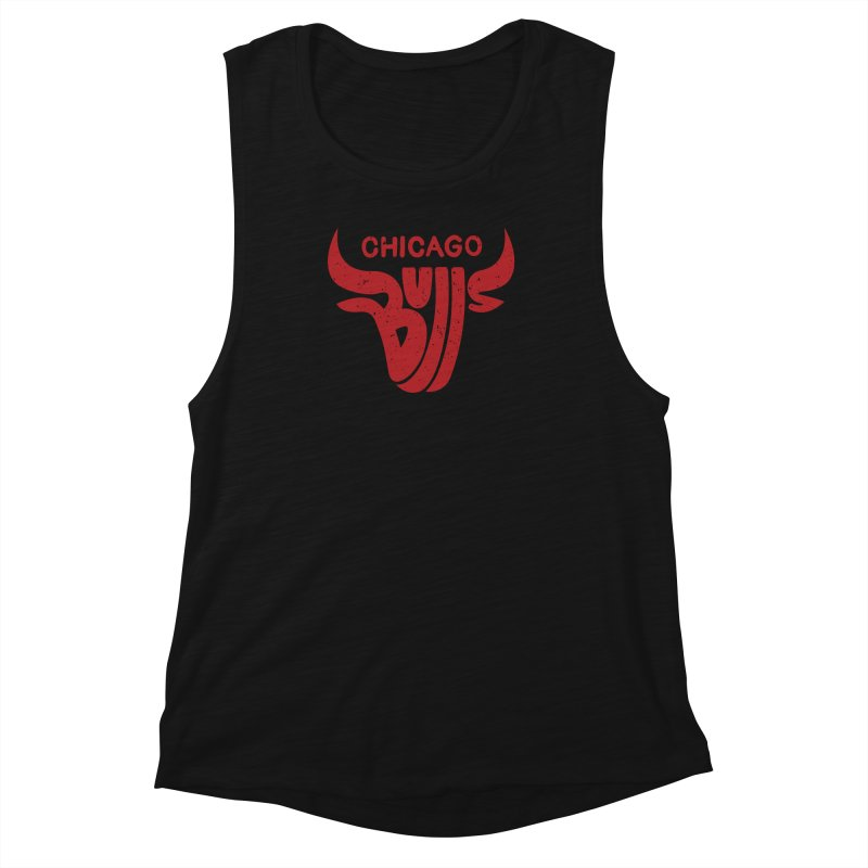Bulls (Red) Women's Muscle Tank by 5eth's Artist Shop