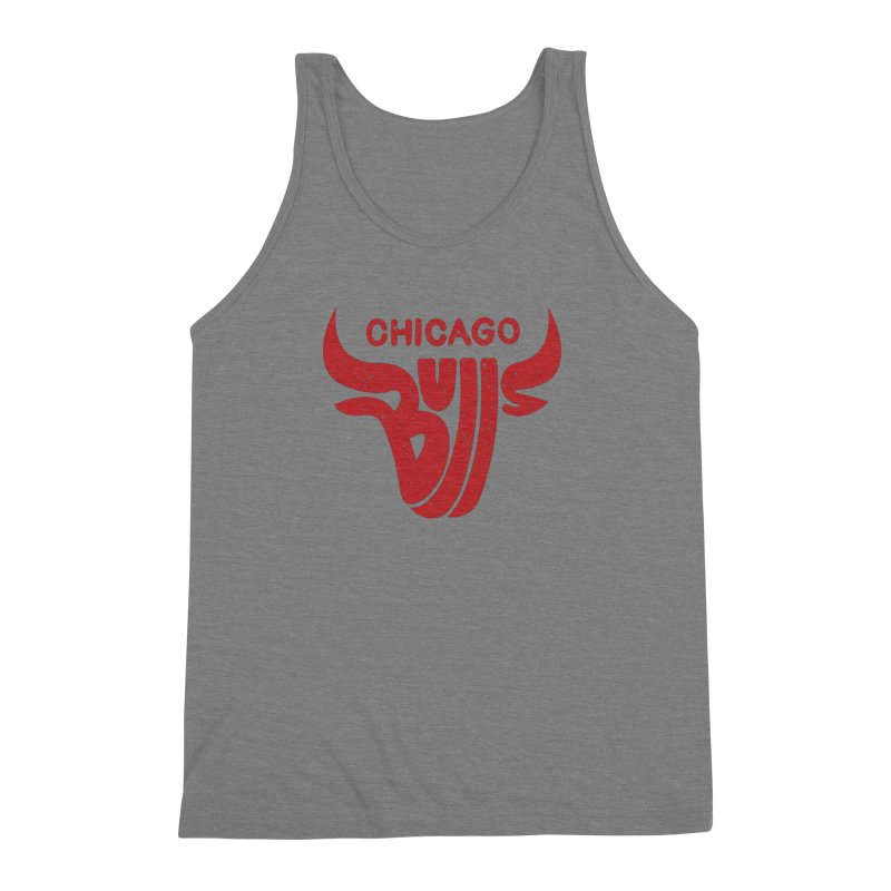 Bulls (Red) Men's Triblend Tank by 5eth's Artist Shop